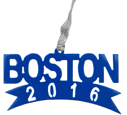 Boston Marathon 2016 Blue Dangler Ornament