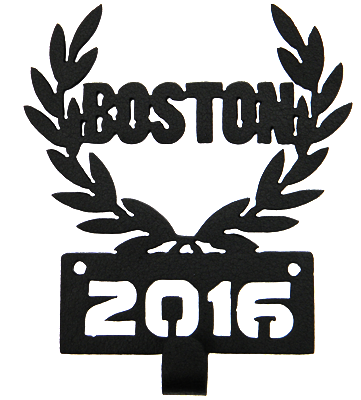 Boston Marathon 2016 1 Hook Black Medal Display Hanger