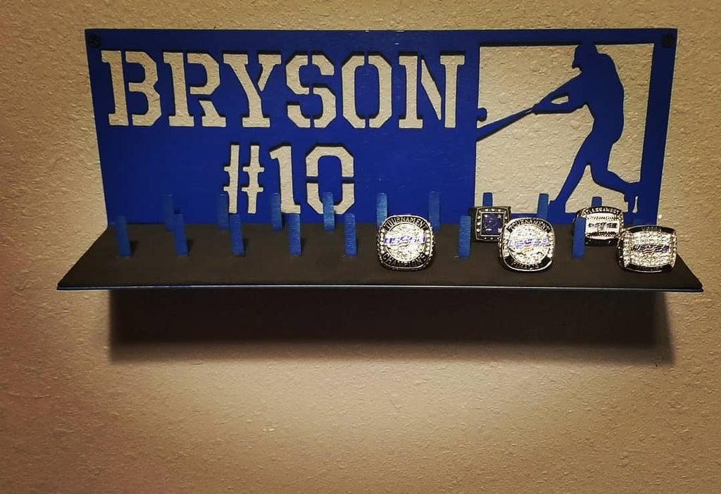 Custom Baseball Ring Display