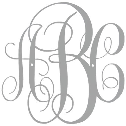 Custom Script Monogram - Metal Wall Art