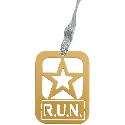 Army Star RUN Gold Dangler Ornament