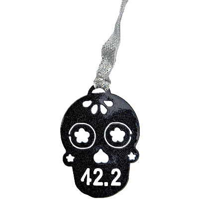 Sugar Skull 42.2 Runner Black Sparkle Dangler Ornament