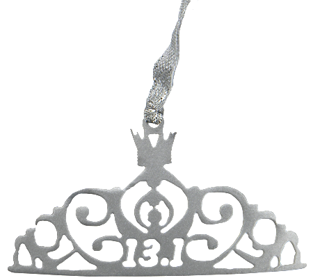 Silver Disney Princess Crown 13.1 Half Marathon Dangler