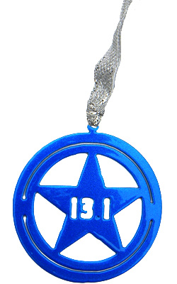 Disney Avengers Star Shield 13.1 Half Marathon Blue Dangler