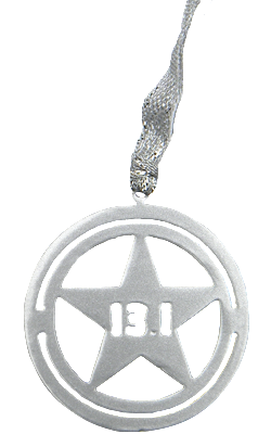 Disney Avengers Star Shield 13.1 Half Marathon Silver Dangler