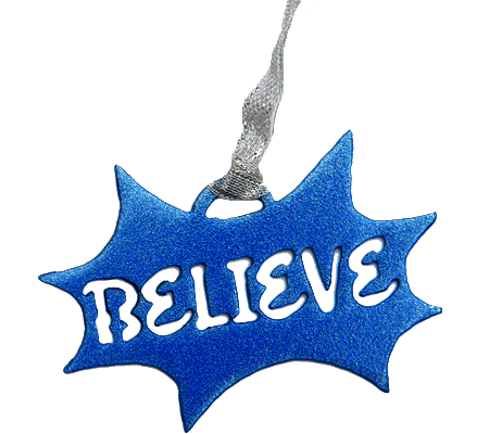 Disney Believe Blue Burst Dangler Ornament