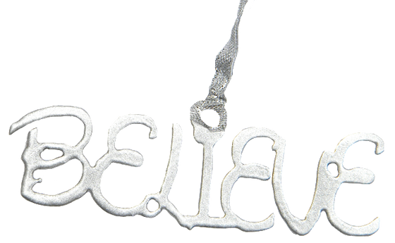 Disney Believe Magical Silver Dangler Ornament