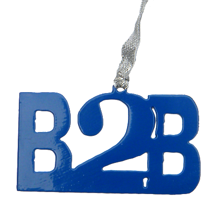 Boston to Big Sur B2B Blue Dangler ornament