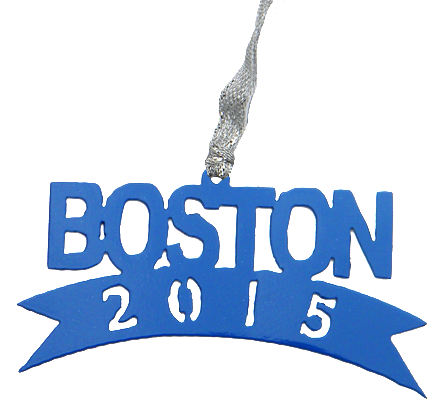 Boston Marathon 2015 Blue Dangler Ornament
