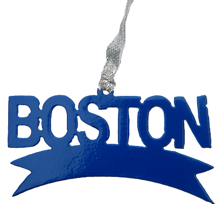 Boston Marathon Blue Dangler Ornament