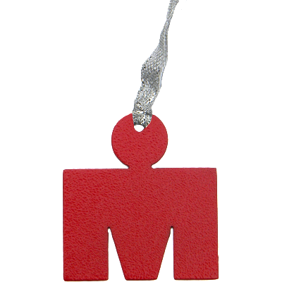Ironman Triathlon M Dot Logo Red Dangler Ornament