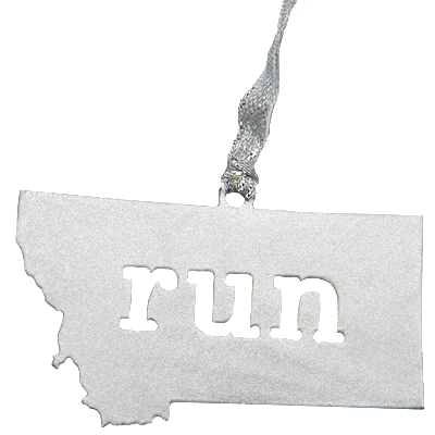 Run Montana Silver Dangler Ornament