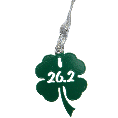 26.2 Marathon Shamrock Green Dangler Ornament