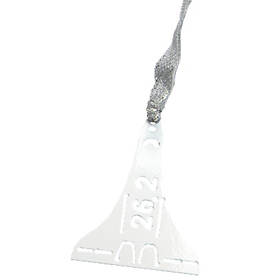 26.2 Space Coast Marathon White Dangler Ornament