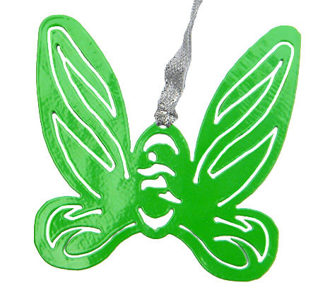 Disney Tinkerbell Wings Green Dangler Ornament