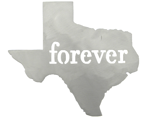 Texas Forever Silver Wall Emblem