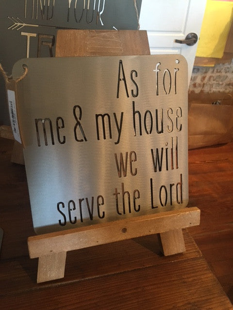 Metal Sign Bible Verse As For Me and My House