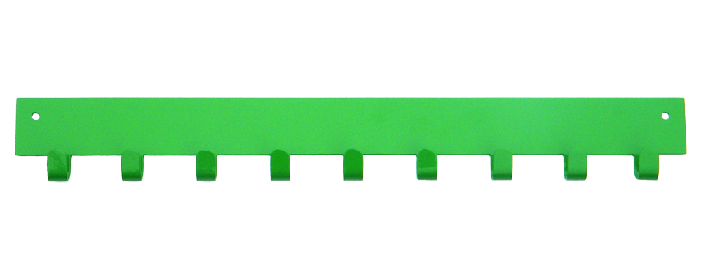 2nd Row Add-on Bar Hot Green 10 Hook Medal Display Hanger