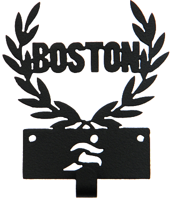 Boston Marathon Runner 1 Hook Black Medal Display Hanger