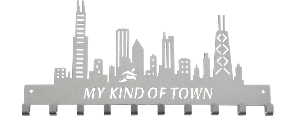 Chicago Skyline My Kind of Town 10 Hook Silver Medal Hanger