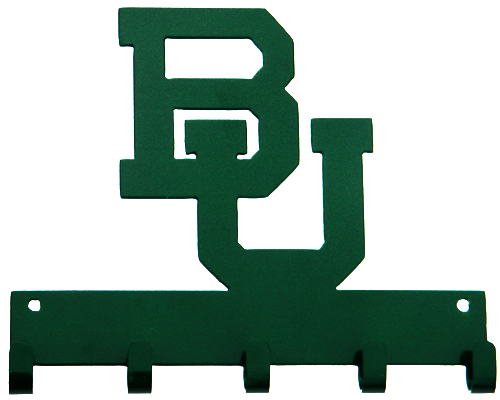 Baylor BU Logo Green 5 Hook Medal Display Hanger