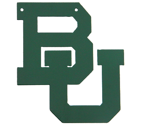 Baylor BU Logo Green Metal Wall Sign