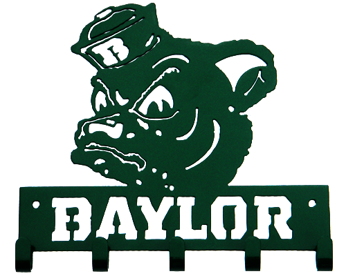Baylor Sailor Bear Green 5 Hook Medal Display Hanger