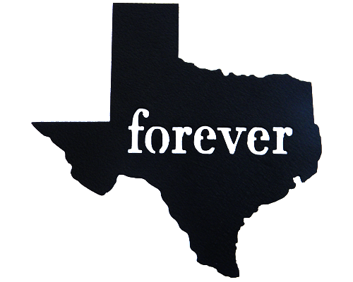 Texas Forever Black Wall Emblem