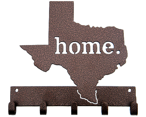 Texas Home Bronze 5 Hook Key, Jacket, Hat, Medal Hanger Custom