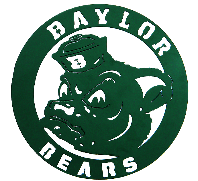 Baylor Sailor Bear Green Circular Wall Sign