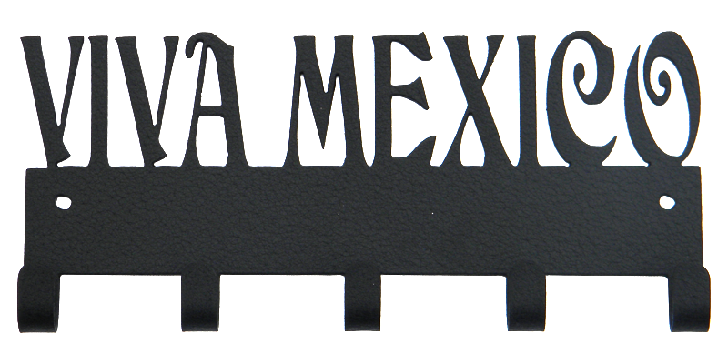 Viva Mexico Black 5 Hook Medal Display Hanger