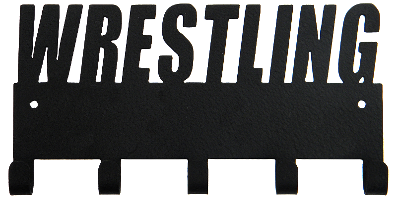 Wrestling Black 5 Hook Medal Display Hanger