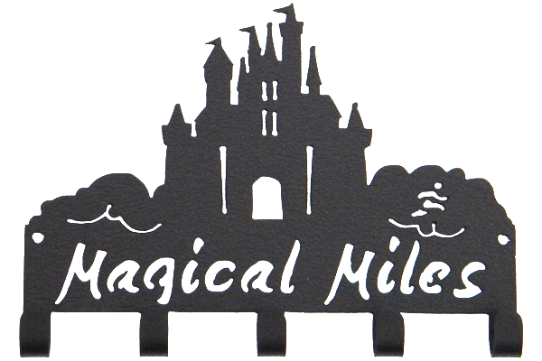 Disney Magical Miles Castle 5 Hook Black Medal Hanger