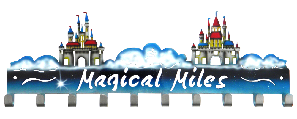 Magical Miles with Two Castles- Medal Hanger