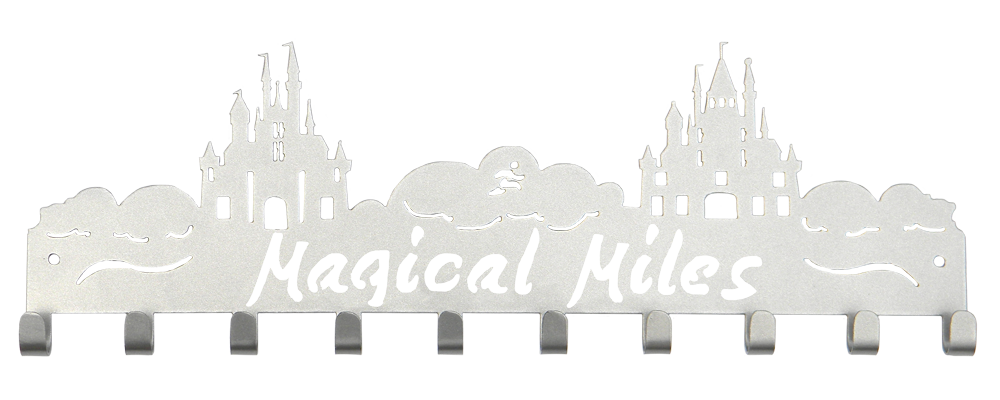 Disney Magical Miles 2 Castle 10 Hook Silver Medal Hanger