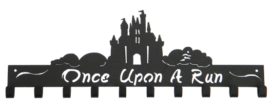 Disney Once Upon A Run Castle 10 Hook Black runDisney Medal Hanger
