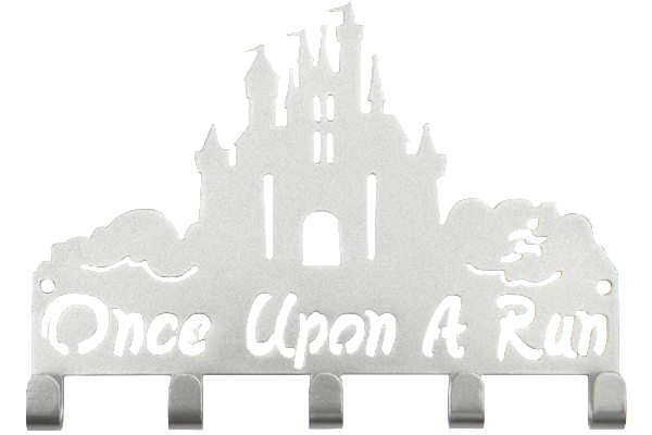 Disney Once Upon A Run Castle 5 Hook Silver Medal Hanger