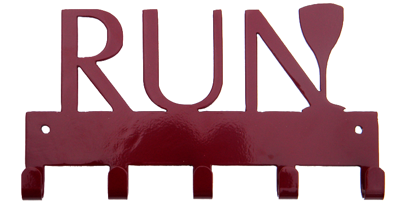 Run with Wine Glass Merlot Red Maroon 5 Hook Medal Hanger