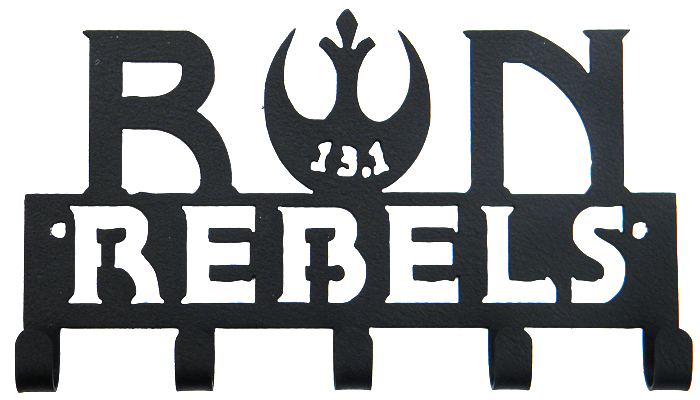 Star Wars 13.1 Half Marathon Run Rebels 5 Hook Black Medal Hanger