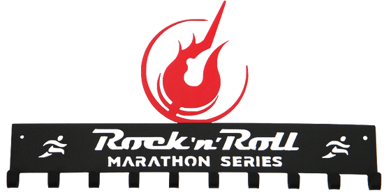 Rock 'n' Roll Marathon Series Logo - Black and Red Medal Hanger