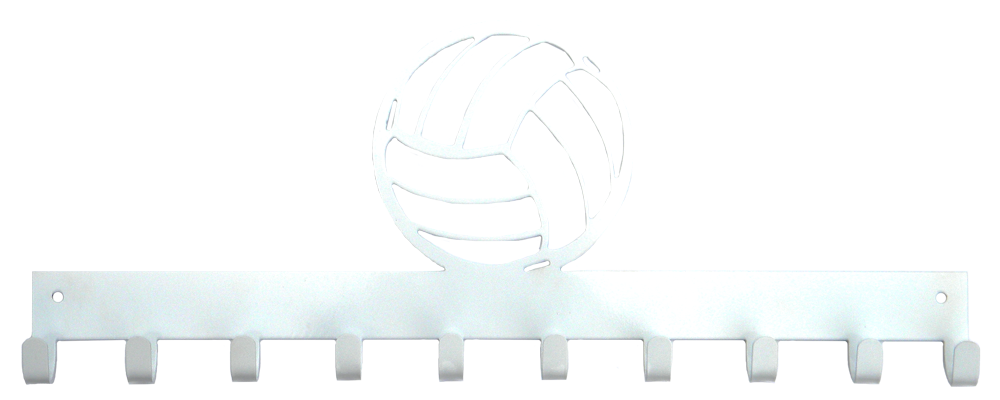 Volleyball Silver 10 Hook Medal Display Hanger