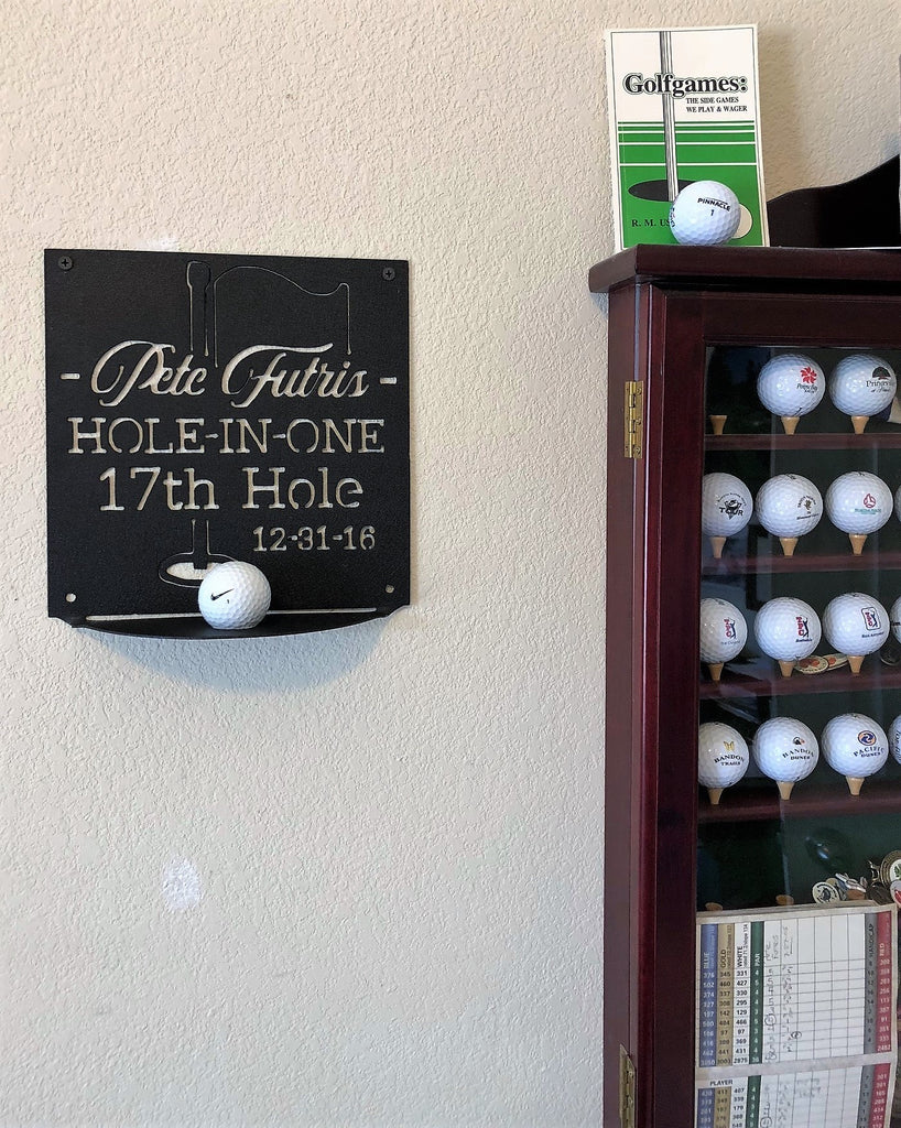 Hole-In-One Golf Plaque Staged