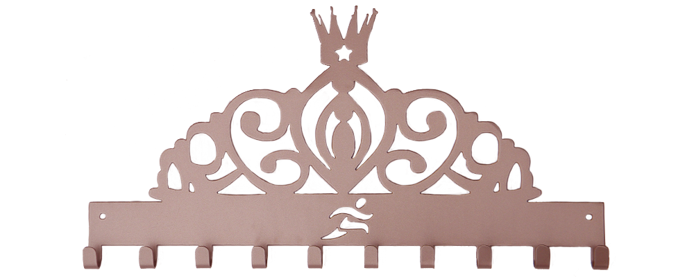 Tiara with Runner Cutout- Medal Hanger