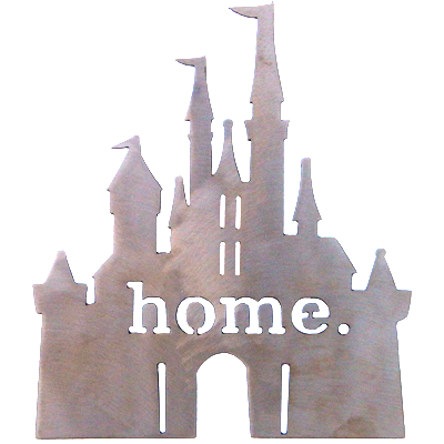 Disney Princess Castle Home Silver Wall Emblem
