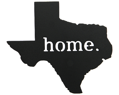 Texas Home Black Wall Emblem