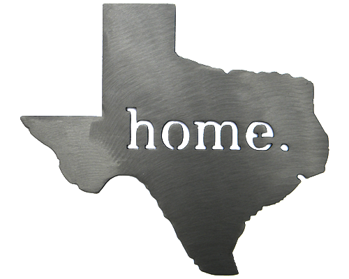 Texas Home Silver Wall Emblem