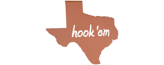 Texas Hook 'Em Horns! Texas Longhorns Wall Art