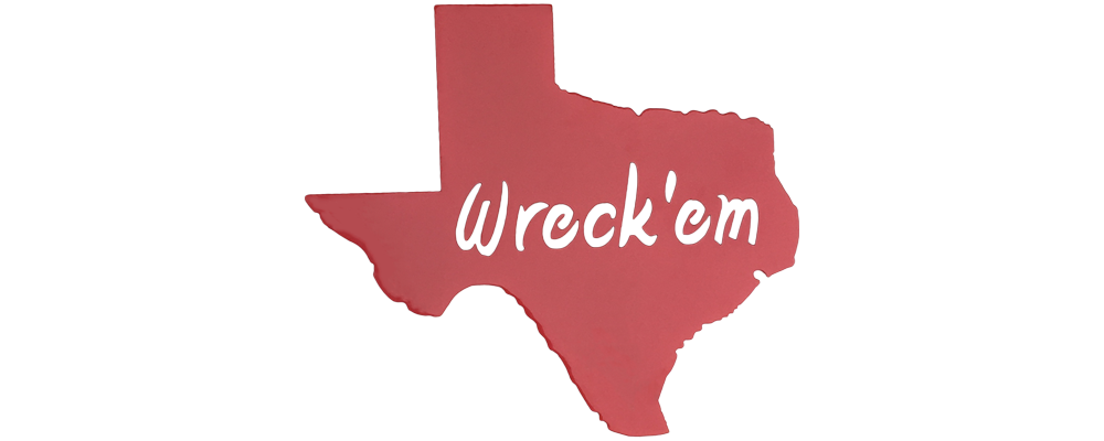 Texas Wreck 'Em! Texas Tech Wall Art
