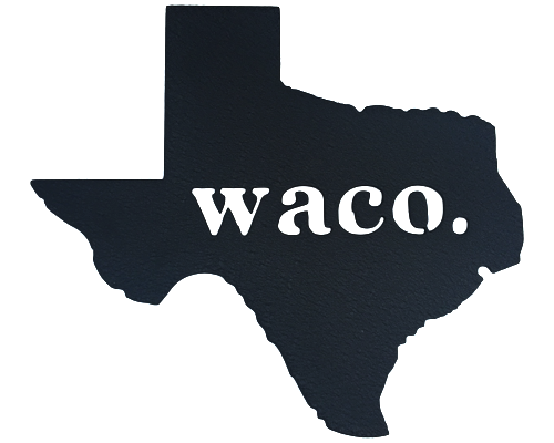 Texas Waco Black Wall Emblem