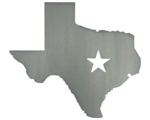 Texas Star Silver Wall Emblem